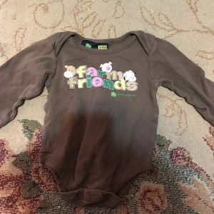 3-6 John Deere Long Sleeve Onsie